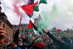 Protestas en apoyo a los palestinos
