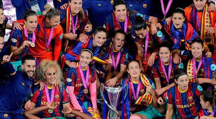 El Barcelona femenil consigue su primera Liga de Campeones'>