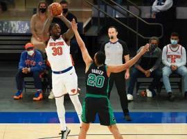 Knicks ganan a Celtics y son cuartos en la Conferencia Este