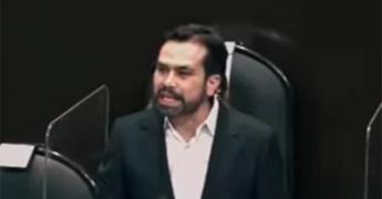 Vamos a ir por ti, a que rindas cuentas asesino, amenaza diputado de MC a López-Gatell